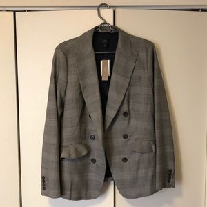 NWT J. Crew blazer with brown buttons and ruffles